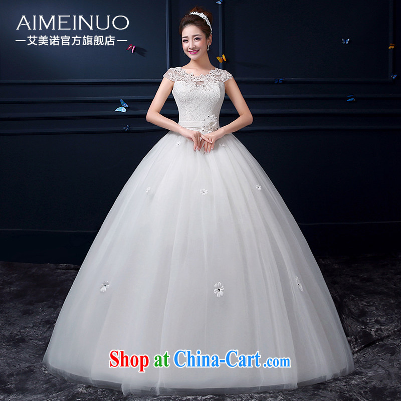 The United States, wedding summer 2015 new Korean Beauty gauze lace shoulders Princess package shoulder sexy flowers with strap A BH 15 93 white XXL _waist two feet 3_