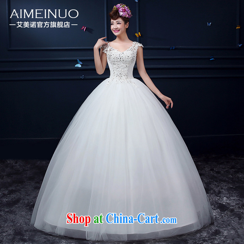 The United States, wedding dresses 2015 summer beauty V collar double-shoulder lace flowers Korean bridal graphics thin with Ruth back strap A BH 15 88 white XXL _waist two feet 3_