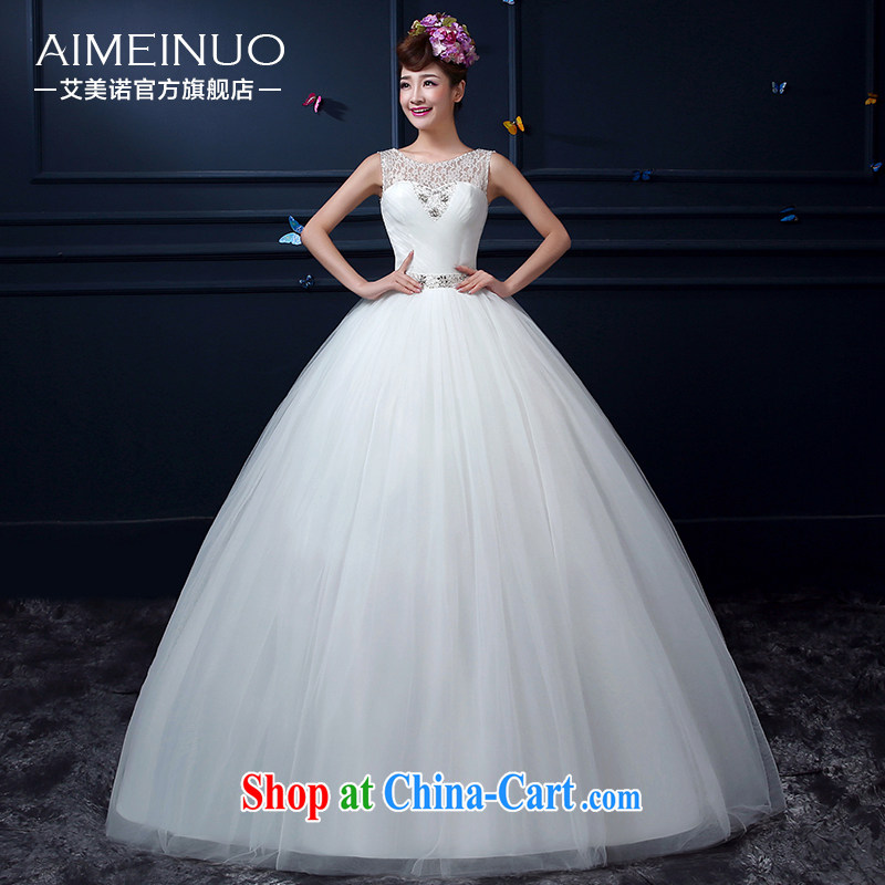 The United States, wedding dresses summer 2015 new Korean shoulders with bridal graphics thin the Field shoulder wedding parquet drill strap A BH 15 90 white XXL (waist two feet 3)