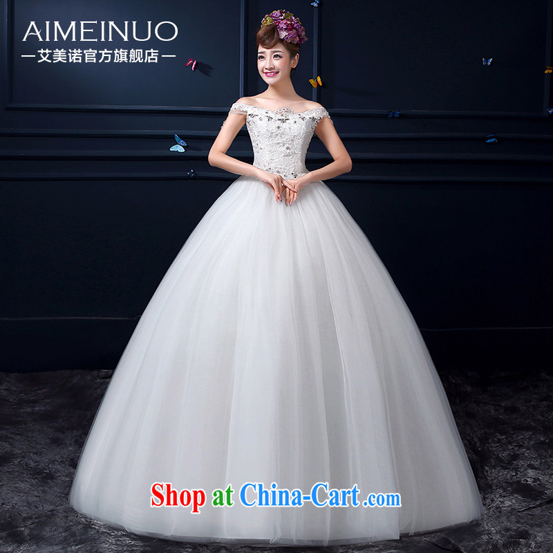 The United States, wedding dresses summer 2015 new bride Korean Beauty retro a shoulder with wedding band A BH 15 91 white XXL _waist two feet 3_