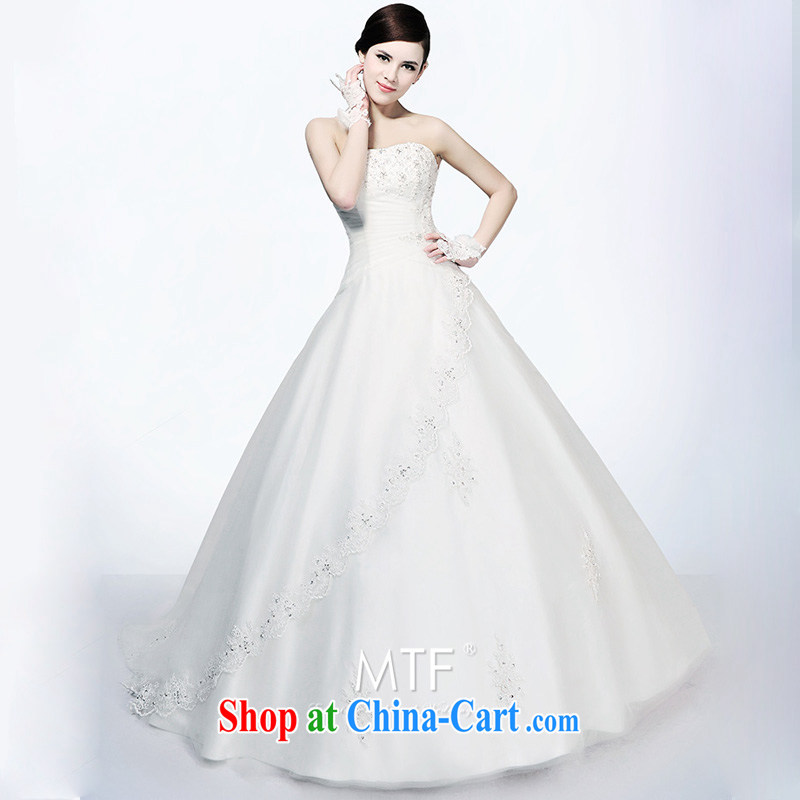 Garden Advanced Custom Deluxe professional wedding dresses Korean long-tail 2015 new H 694 with Paragraph 173 - L