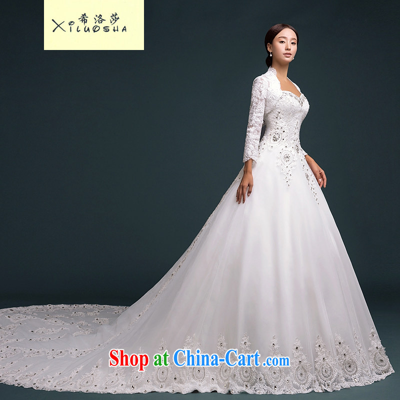 The Greek, Mona Lisa (XILUOSHA) bridal wedding two-piece wedding wiped his chest long-sleeved 2015 New High-tail high-end custom wedding privilege, XL