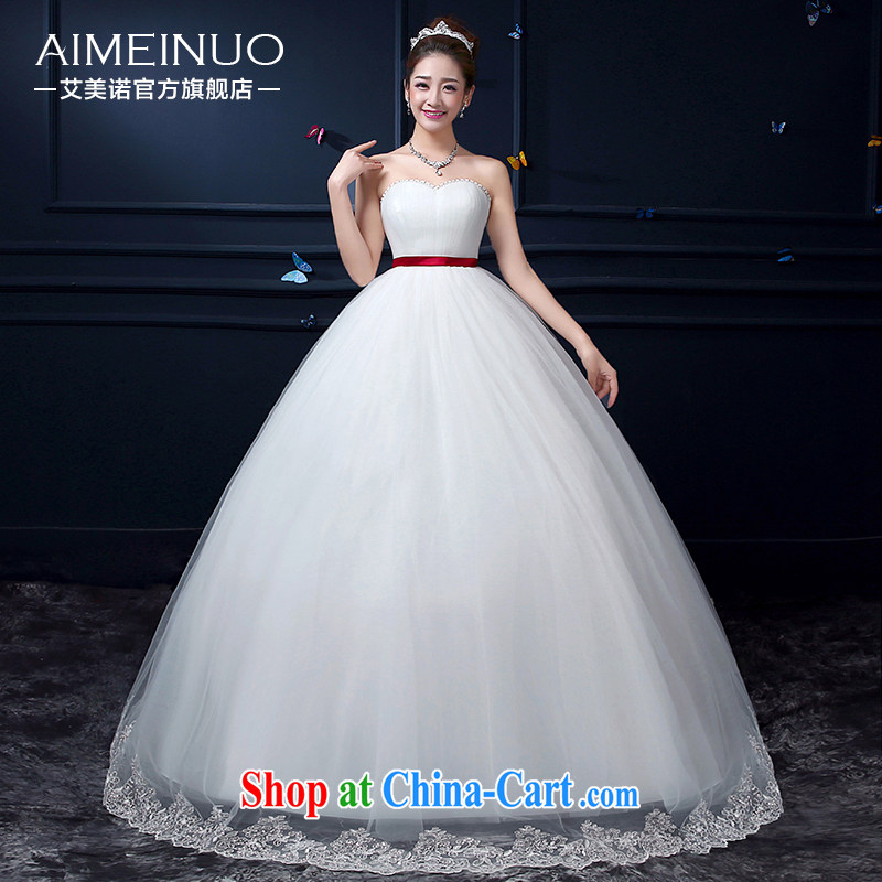 The United States, wedding summer 2015 new, only the US and hem heart-shaped bare chest lace lace Korean Princess with beauty by A BH 15 96 white XXL (waist two feet 3)
