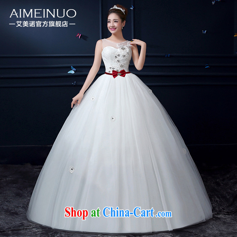 The United States, wedding 2015 new Korean brides marriage gauze lace double-shoulder lace flowers with beauty by tie A BH 15 97 white XXL _waist two feet 3_