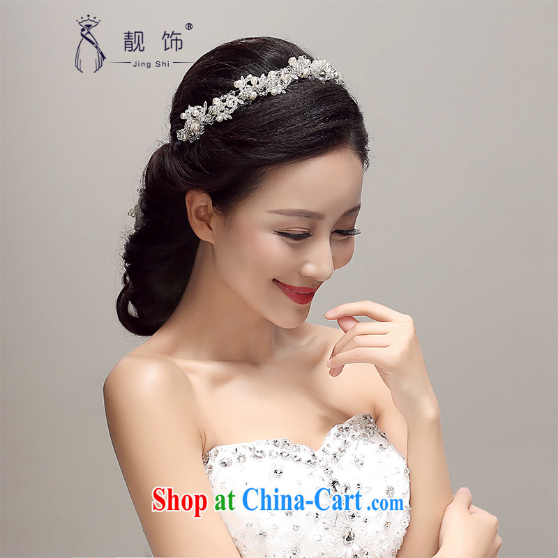 Beautiful ornaments 2015 new bridal headdress Korea-only American Pearl water drilling Crown wedding hair accessories wedding accessories the white