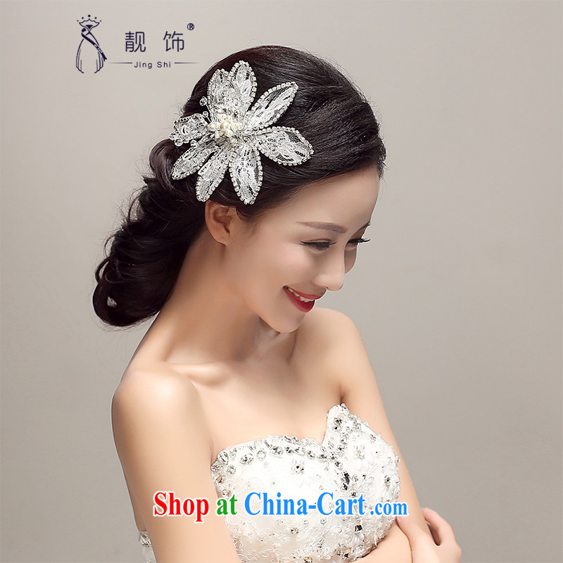 Beautiful ornaments 2015 new bridal jewelry Korean-style water drilling marriage crown and ornaments wedding accessories accessories white