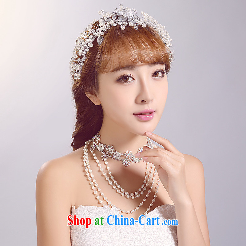Ferrara 2015 new bride wedding head-dress, wedding accessories white jewelry shadow floor shooting supplies wedding dresses and ornaments