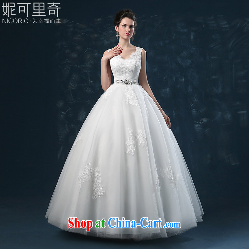 wedding dresses 2015 new summer bridal wedding double-shoulder lace married a Field shoulder the code strap wedding with white XXL _3 - 5 Day Shipping_