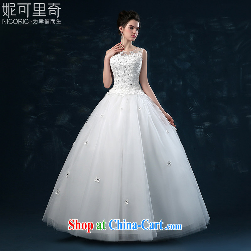 2015 new wedding dresses summer bridal wedding dress with bare chest wedding double shoulder strap large code flowers parquet drill white XXL _3 - 5 Day Shipping_
