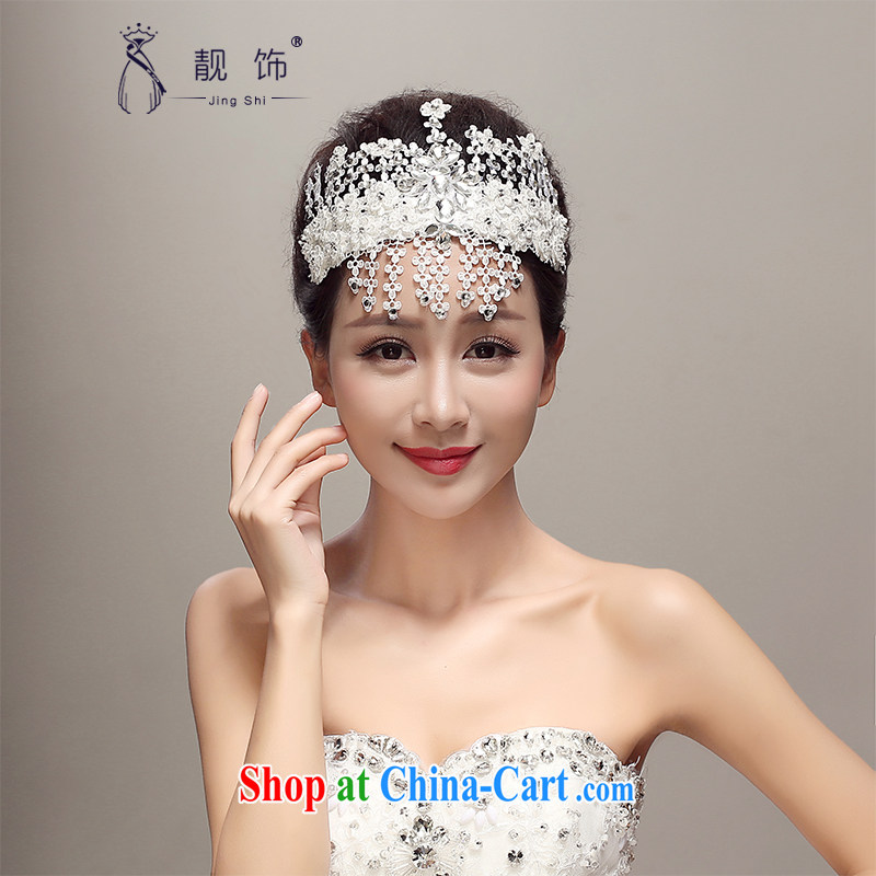 Beautiful ornaments 2015 new Japan, and the ROK lace bridal head-dress and elegant diamond jewelry only American wedding dresses accessories wedding supplies white