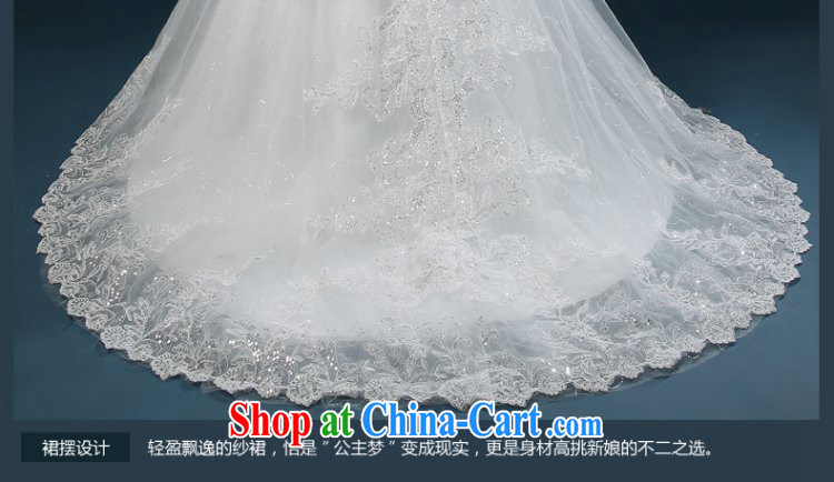wedding dresses 2015 new summer fashion Korean bridal wiped his chest parquet drill wedding tail beauty wedding dresses tied with white XXL (3 - 5 day shipping) pictures, price, brand platters! Elections are good character, the national distribution, so why buy now enjoy more preferential! Health