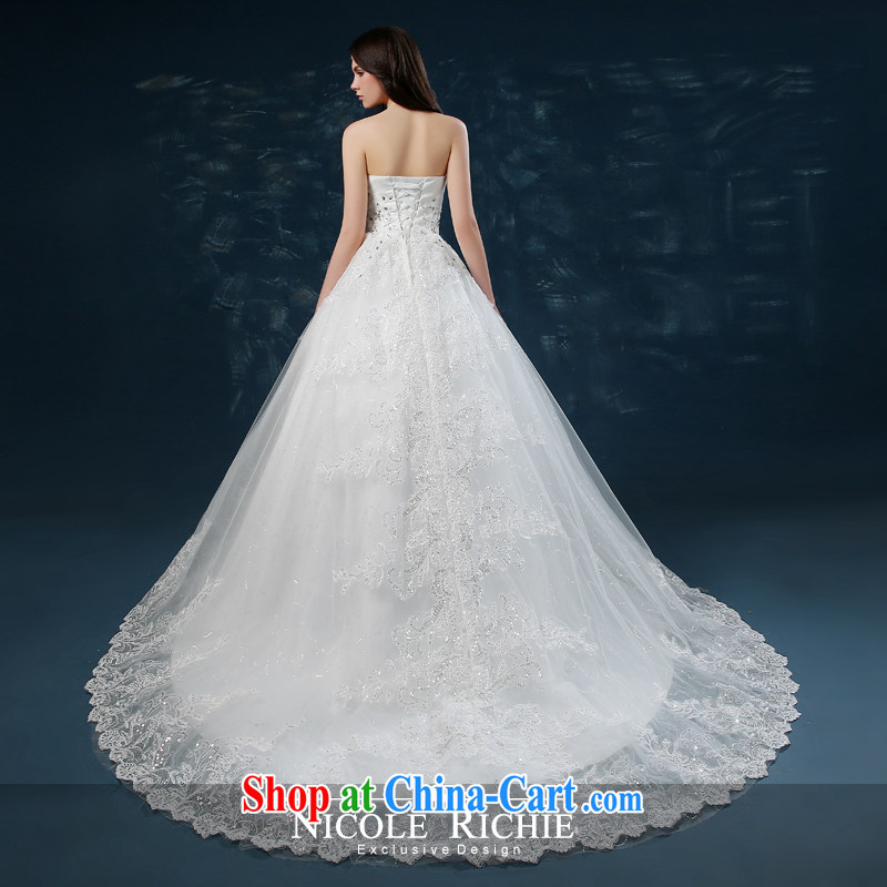 wedding dresses 2015 new summer fashion Korean bridal wiped his chest parquet drill wedding tail beauty wedding dresses tied with a white XXL (3 - 5 Day Shipping), Nicole Kidman (Nicole Richie), online shopping