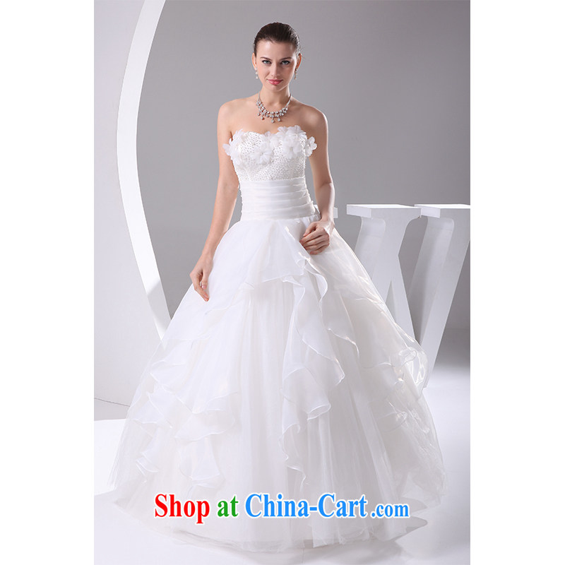 The beautiful yarn wiped his chest, wedding a purely manual staple-joo Korean version Mary Magdalene Beauty Chest marriages wedding 2015 new photography, clothing made white customizable