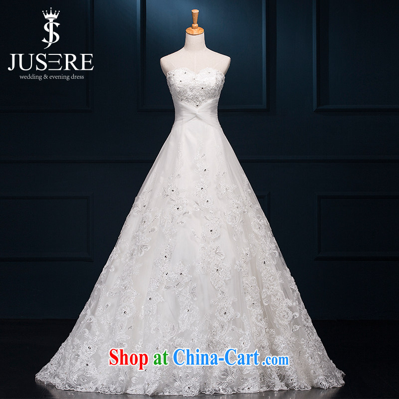 It is not the JUSERE high-end wedding dresses bridal wedding dress with small tail Princess dress with diamond wedding lace-covered shoulders leak back shaggy dress white tailored