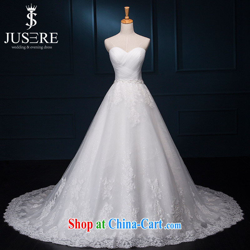 It is not the JUSERE high-end wedding dresses bridal wedding dress with small tail Princess dress with wedding dresses simple gorgeous buds Silk Dresses wiped off chest white tailored