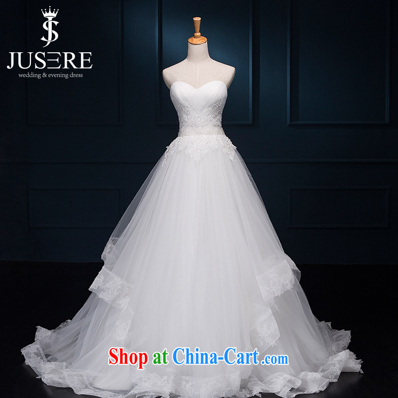 It is not the JUSERE high-end wedding dresses bridal wedding dress with small tail Princess dress with wedding chest bare-chest shaggy skirt flouncing off white tailored
