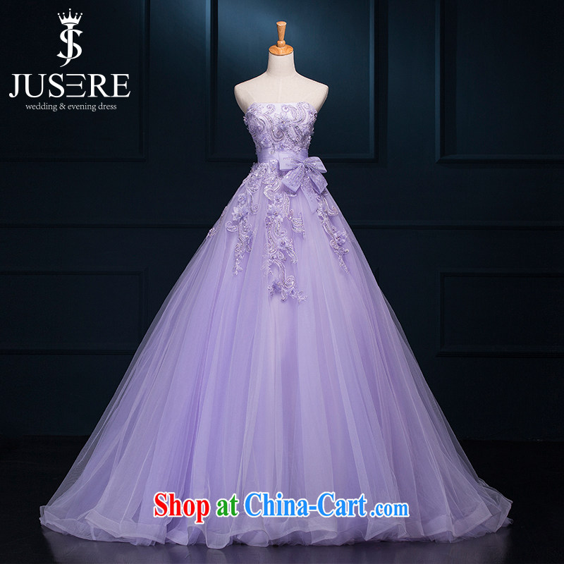 It is not the JUSERE high-end wedding dresses dream purple bridal wedding dress with small tail Princess dress with wedding dresses, bow ties with light purple tailored