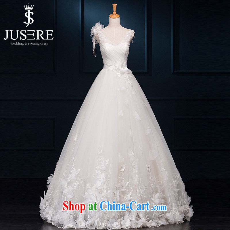 It is not the JUSERE high-end wedding dresses bridal wedding dress with small tail Princess dress with wedding 100 flower fairies fantasy straps shaggy dress white tailored