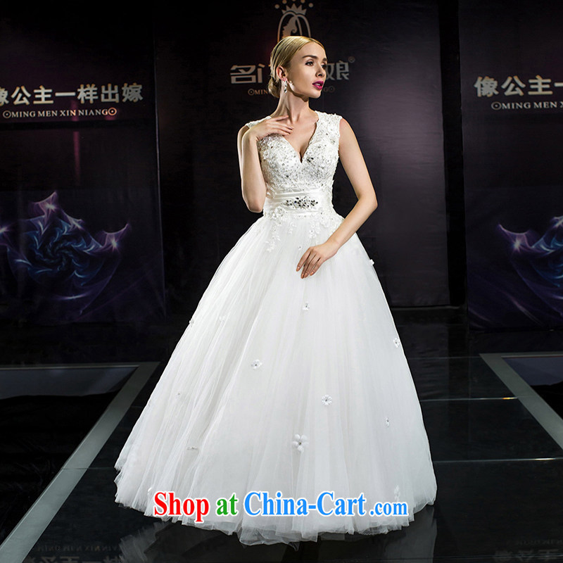 The bride's 2015 summer wedding dresses wedding dresses the Field shoulder pregnant wedding with wedding dresses 8640 white tailored plus 20_