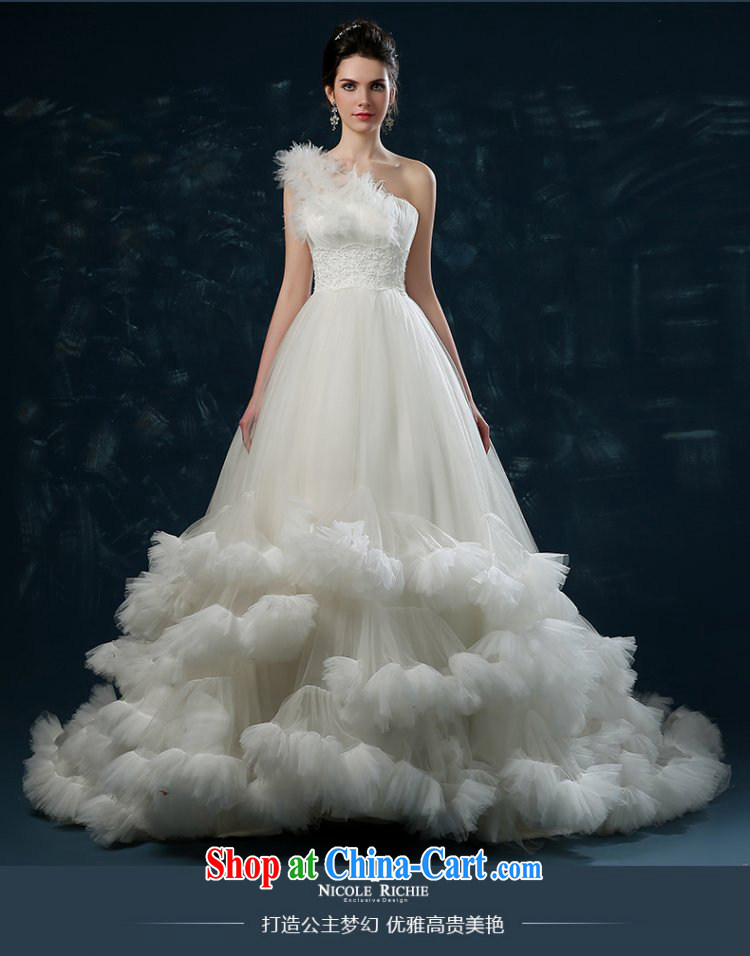 wedding dresses 2015 new summer high-end European and American cloud tail wedding single shoulder wiped chest bridal wedding band female white XXL (3 - 5 day shipping) pictures, price, brand platters! Elections are good character, the national distribution, so why buy now enjoy more preferential! Health