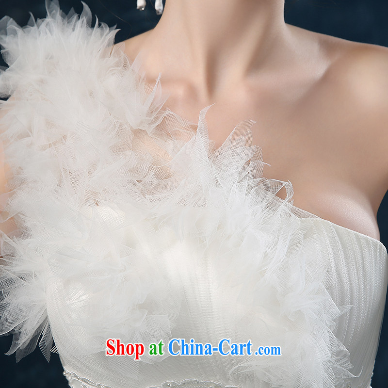 wedding dresses 2015 new summer high-end European and American cloud tail wedding single shoulder wiped chest bridal wedding band female white XXL (3 - 5 Day Shipping), Nicole Kidman (Nicole Richie), online shopping