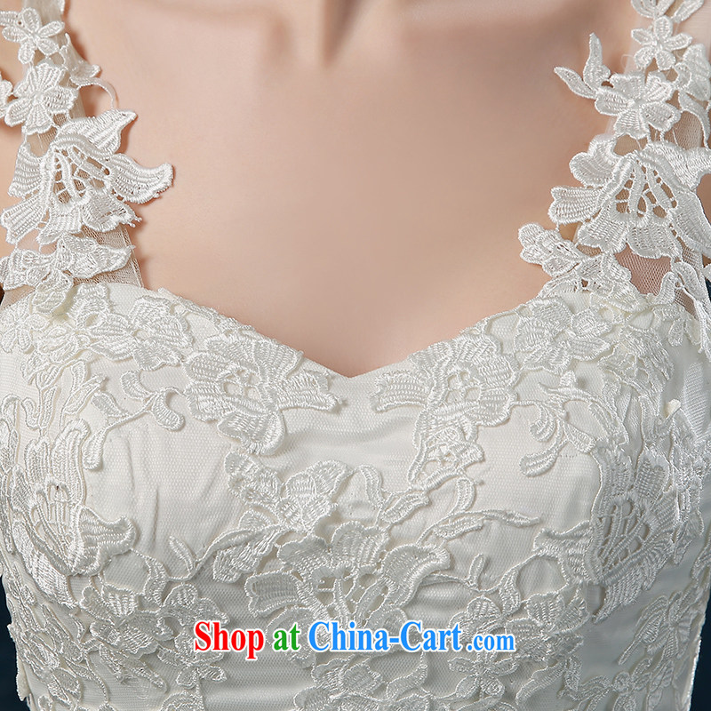 Wedding summer 2015 new dual-shoulder lace-tail wedding summer wedding dress bridal wedding, tie wedding white XXL (3 - 5 Day Shipping), Nicole Kidman (Nicole Richie), and, on-line shopping