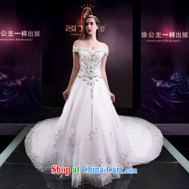 The bride's wedding dresses new 2015 a shoulder-tail wedding bridal wedding custom 2585 XL pre-sale 10 days, the bride, and shopping on the Internet