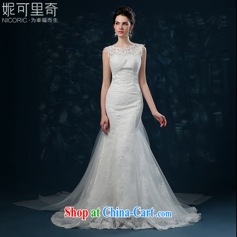 Bridal Suite 2015 new summer bridal crowsfoot wedding-waist wedding lace-tail wedding shoulders bare chest strap white XXL (3 - 5 Day Shipping)