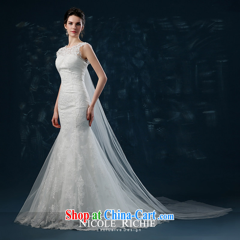 Wedding 2015 new summer bridal crowsfoot wedding-waist wedding lace-tail wedding shoulders bare chest strap white XXL (3 - 5 Day Shipping), Nicole Kidman (Nicole Richie), online shopping