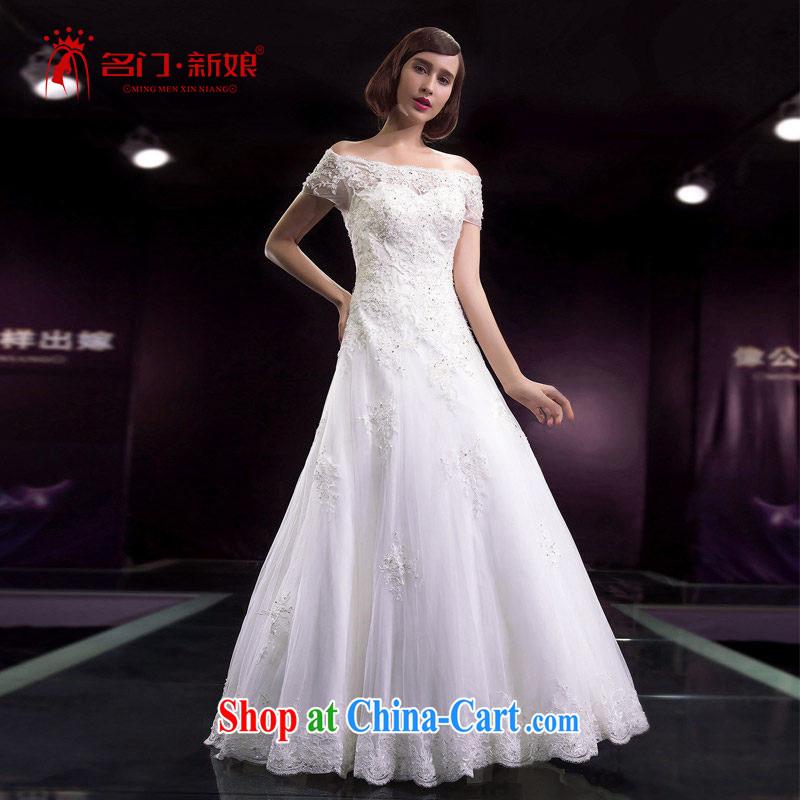 The bride's 2015 summer wedding dresses a shoulder with wedding double-shoulder wedding Korean 2586 XL pre-sale 7 days