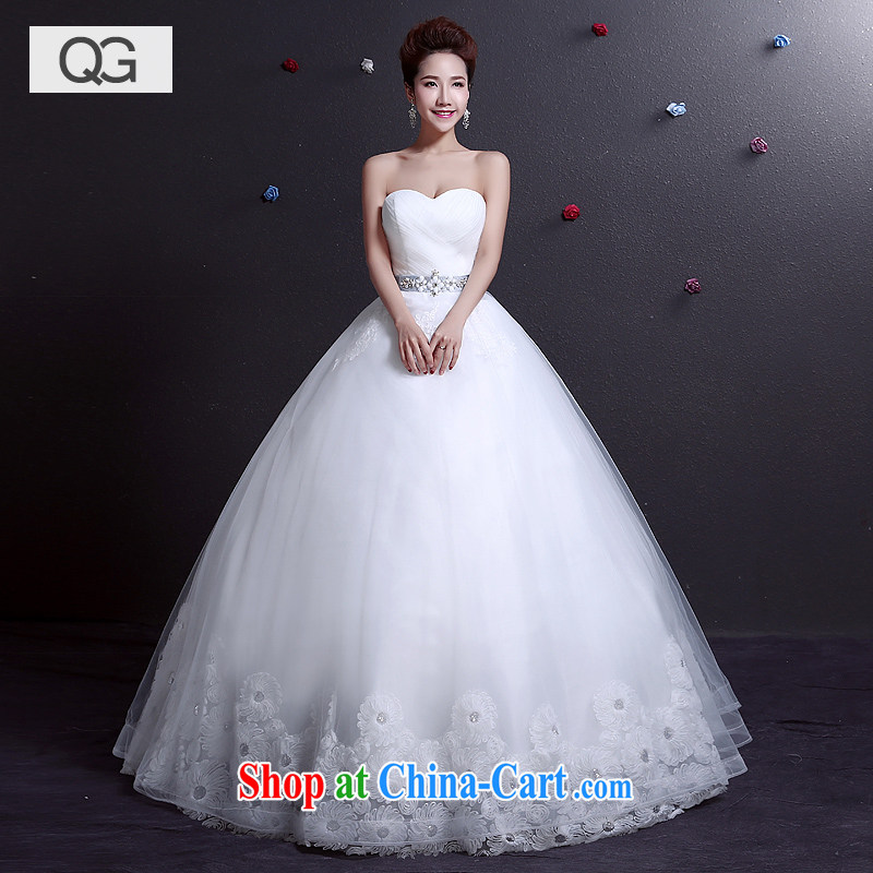 wedding dresses 2015 summer new erase chest graphics thin beauty with a strap wedding code white XXL
