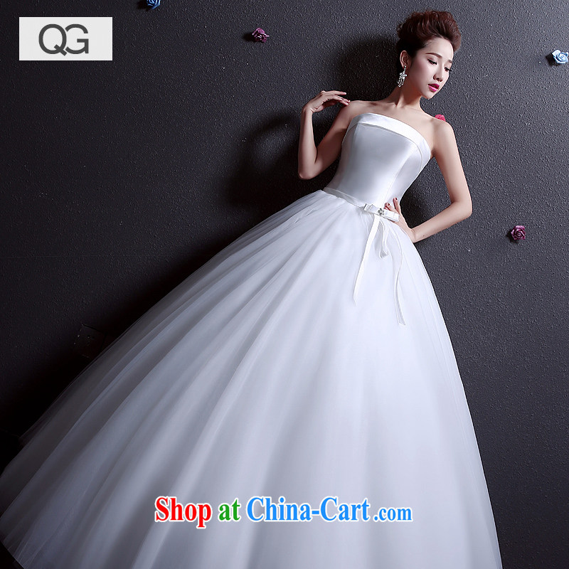 wedding dresses 2015 summer new bride wiped his chest in the Code graphics thin beauty wedding white XXL