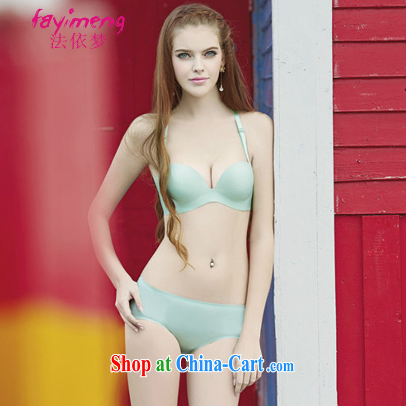 The Dream spring and summer new languages empty water-soluble take-back no scratches underwear half a cup-pinching side buckle JB 127 - 1 X 5881 light green 85 B