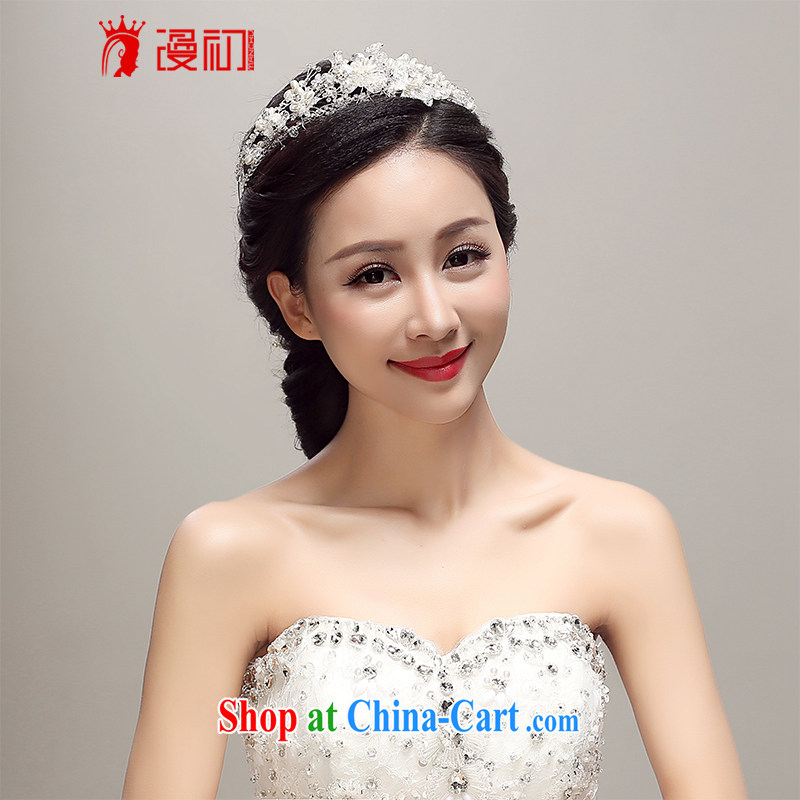 Early definition 2015 new bridal headdress Korean Pearl Crown wedding accessories accessories wedding supplies white