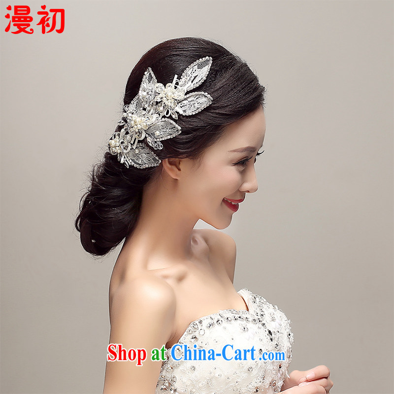 Early definition 2015 new bridal headdress alloy floral Crown wedding accessories accessories wedding supplies white