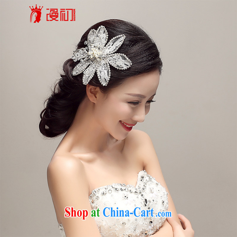 Early definition 2015 new bridal headdress Korean-style floral Crown wedding accessories accessories wedding supplies white