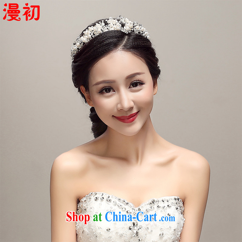 Early definition 2015 new bridal head-dress alloy crown the clamp wedding dresses accessories wedding supplies accessories white