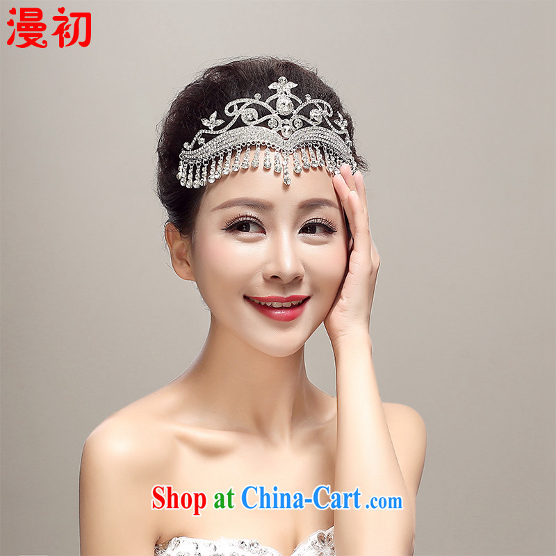 Early definition 2015 new bride's head-dress, Japan, and South Korea alloy Crown jewelry wedding dresses accessories wedding supplies white