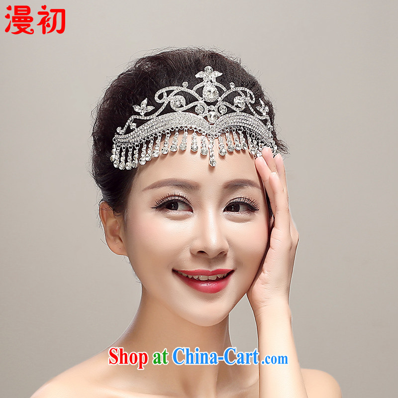 Early definition 2015 new bridal head-dress, Japan, and South Korea alloy Crown jewelry wedding dresses accessories supplies married white, diffuse, and shopping on the Internet