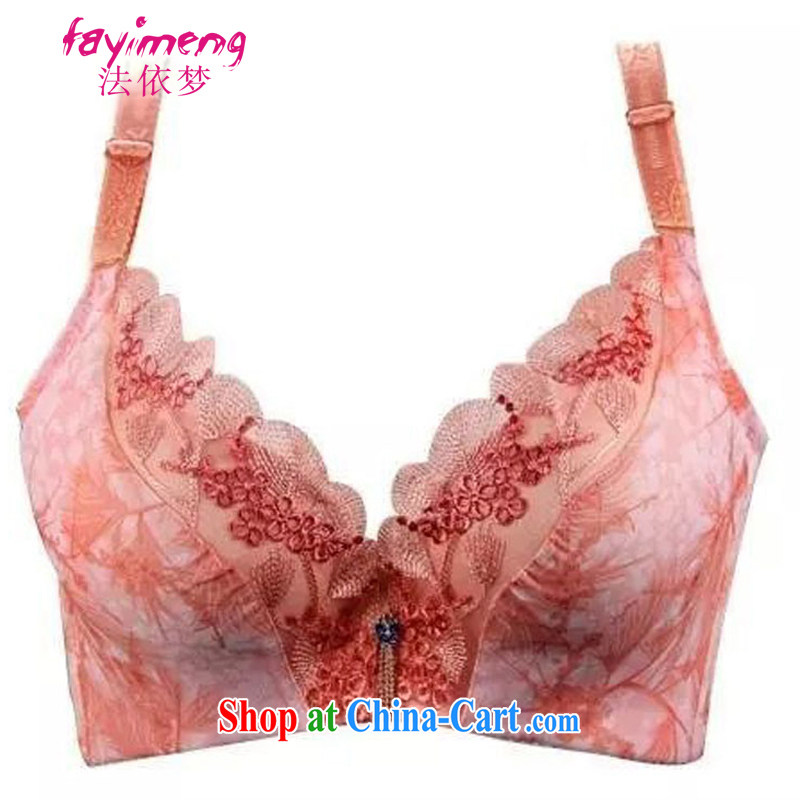 The dream deep V sexy back lace thin Cotton Bowl, underwear bra gather-adjust the chest JD 005 2893 rose red 80 B
