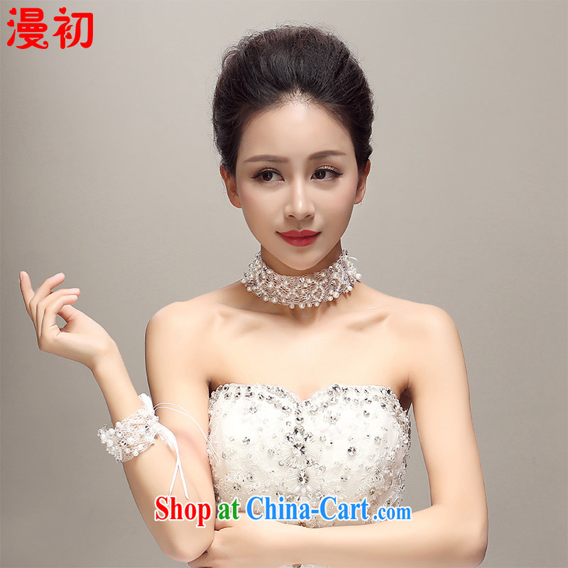 Definition 2015 early New lace Pearl tie-neck collar package wedding dresses accessories bridal jewelry white