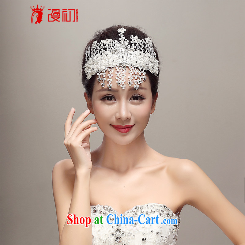 Early definition 2015 new Japan-ROK lace diamond-head-dress bridal wedding dresses accessories wedding supplies white
