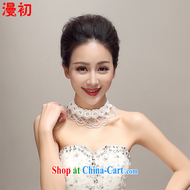 Early definition 2015 new bridal lace beaded necklaces and ornaments the ornaments wedding dresses accessories wedding supplies white