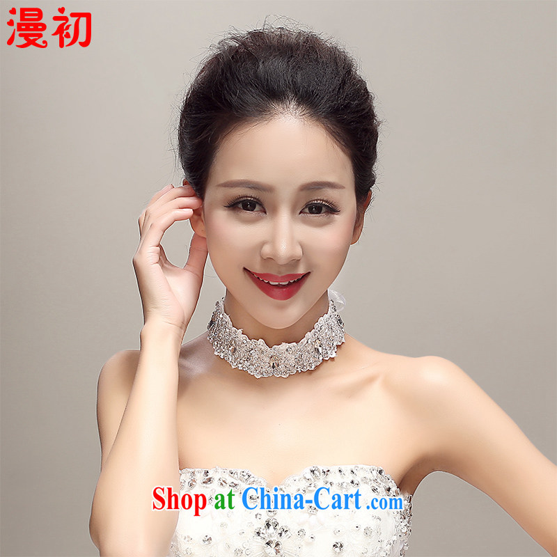 Early definition 2015 new Japan-ROK bridal lace diamond jewelry and ornaments necklace with jewelry and stylish wedding dresses with white