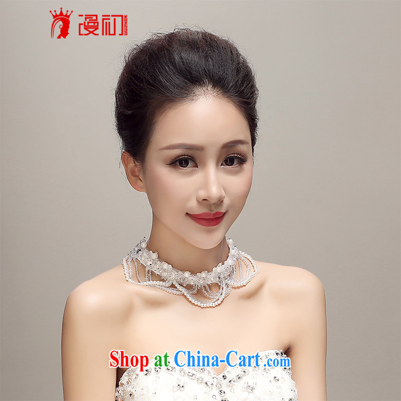 Early definition 2015 new bride only the US, Japan, and South Korea lace beaded necklace wedding dresses accessories wedding supplies white
