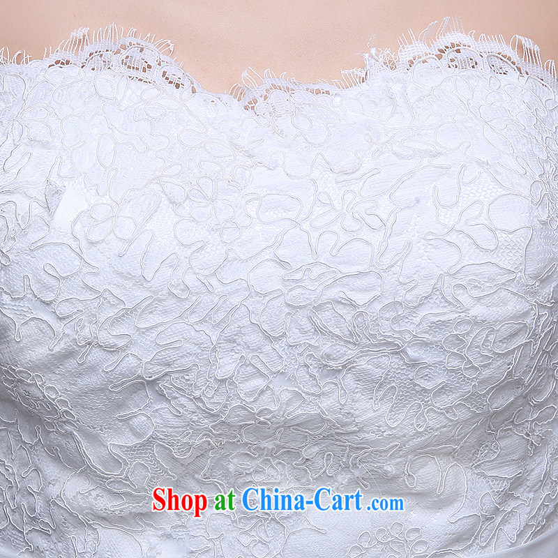Sophie than AIDS summer 2015 new Korean wedding bridal wedding dress skirt ivory white wipe the chest binding code with a long-tail cultivating larger graphics thin wedding female white XL, than AIDS (SOFIE ABBY), online shopping