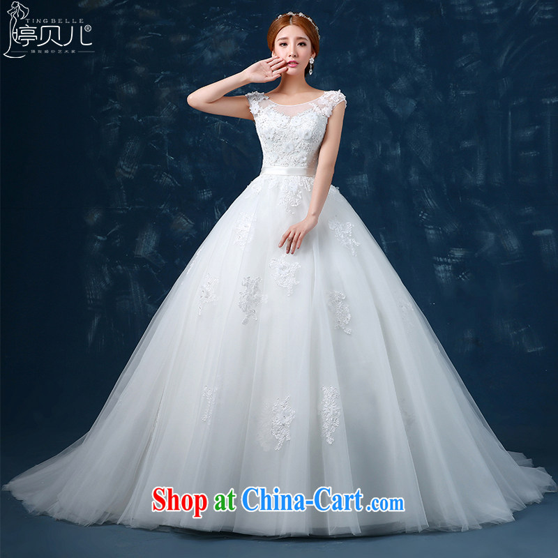 2015 summer wedding dresses new spring marriages and end with the word shoulder wedding shoulders the code long-tail white tail XXL