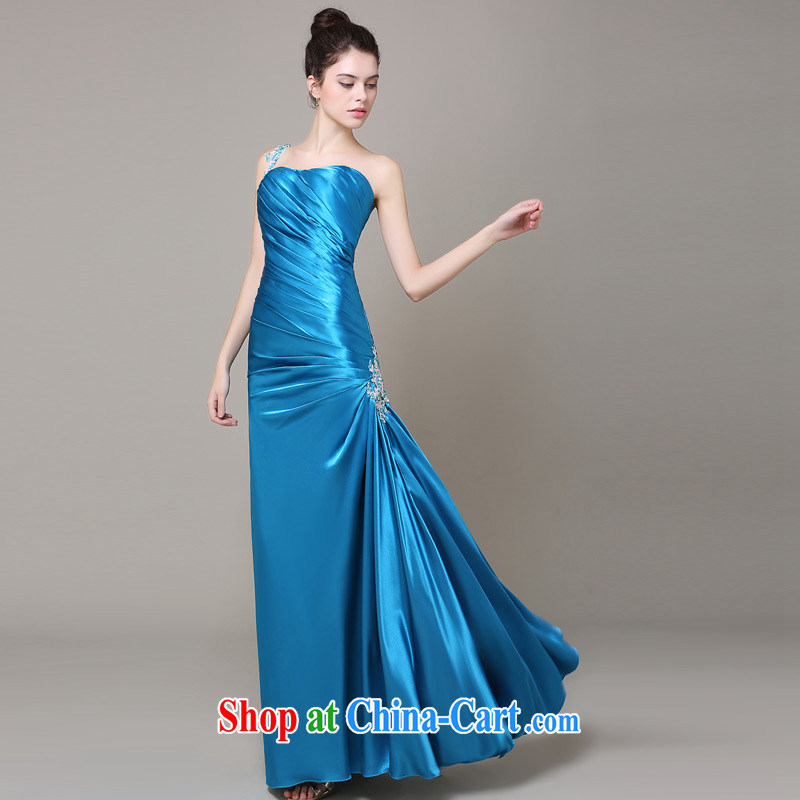 DressilyMe custom wedding dresses 2015 wedding dresses spring and summer new cultivating crowsfoot style hem and click Erase chest bridal ceremony clothing evening wear blue - out of stock tailored