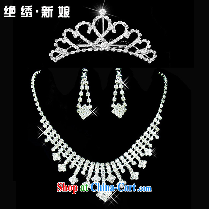There is embroidery bridal 2015 bridal necklace flash, drilling bridal suite link bridal jewelry gift boxed