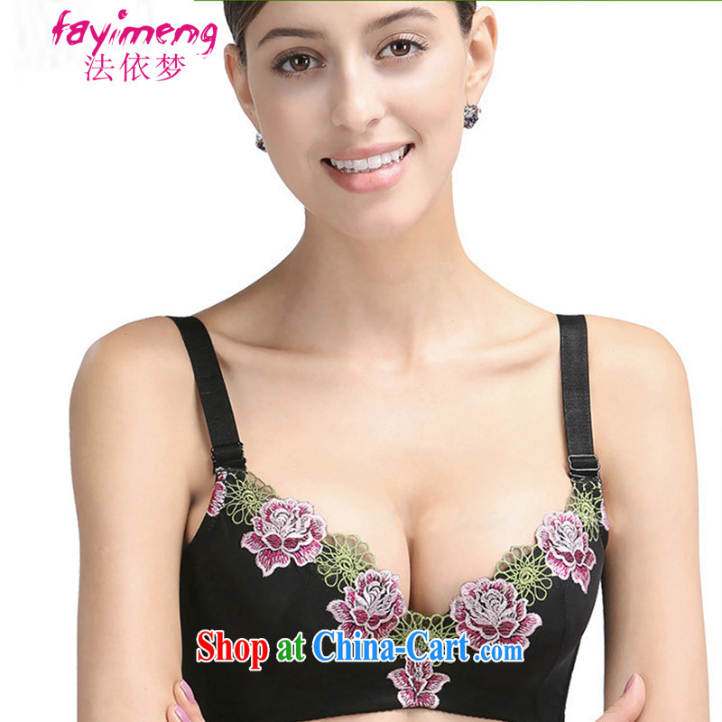 In accordance with the noble dream embroidery adjust-The thorax the ultra-right coordinate of Ms. sense underwear brassieres JFB 127 - 1 04,133 Peony black 85 C
